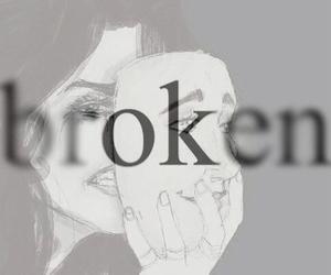 girl, broken, and happy image