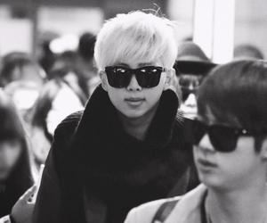 b&w, kim nam joon, and kpop image