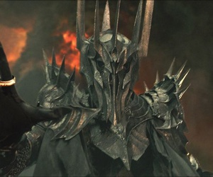 LOTR, sauron, and one ring image