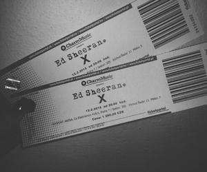 concert, ticket, and ed sheeran image