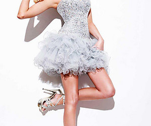 beautiful, dress, and shoes image