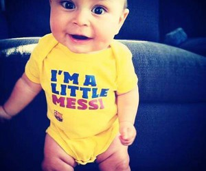 baby, messi, and cute image