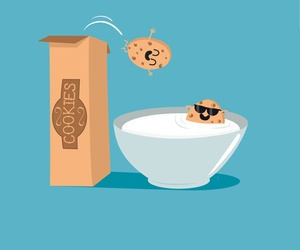funny, Cookies, and illustration image