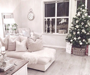 christmas, room, and white image