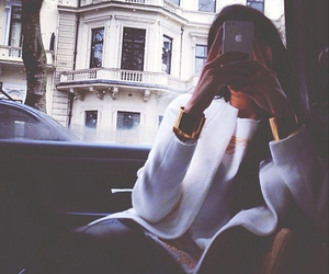 girl, iphone, and style image