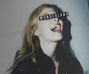 wonderland, girl, and smoke image
