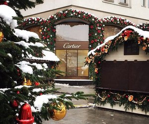 winter, cartier, and christmas image
