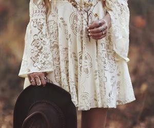 dress, boho, and fashion image