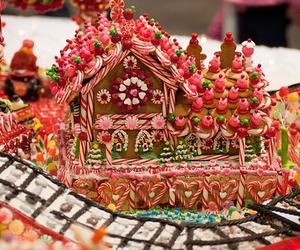 christmas, candy, and house image
