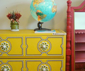 color, dresser, and yellow image