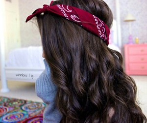 hair, bandana, and tumblr image
