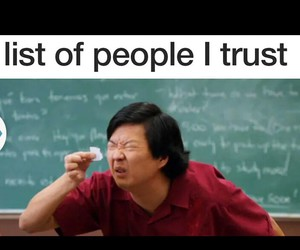 funny, people, and trust image