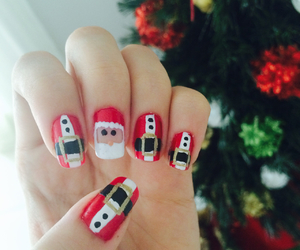 christmas, nails, and cute image
