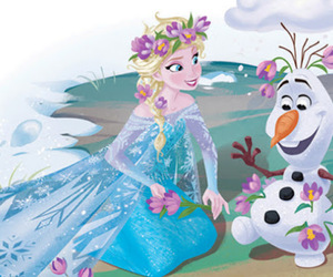 elsa, olaf, and frozen image