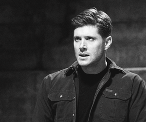 black and white, Jensen Ackles, and supernatural image