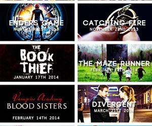 divergent, book, and the book thief image