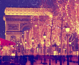 paris, light, and christmas image