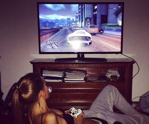 girl, game, and sexy image