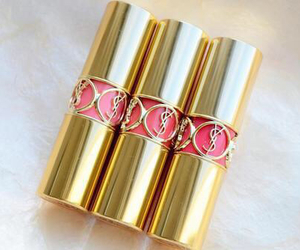 lipstick, pink, and YSL image