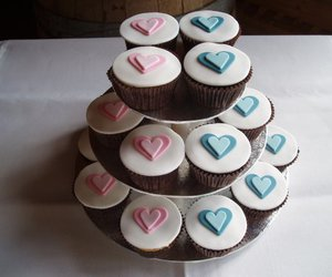 blue, cupcakes, and love image