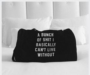 bag and black and white image