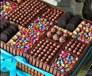 chocolate, cake, and sweet image