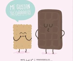 mr wonderful, chocolate, and galletas image