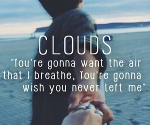 one direction, clouds, and song image