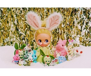 bunny, kitsch, and cute image