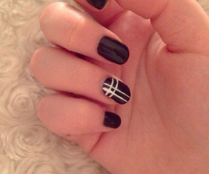black, cross, and nails image