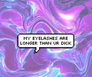 eyelashes, goth, and grunge image