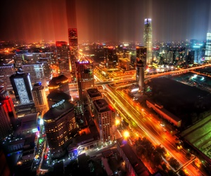 beijing, landscape, and buildings image