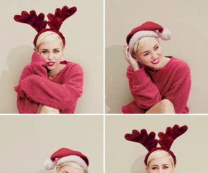 miley cyrus, christmas, and miley image