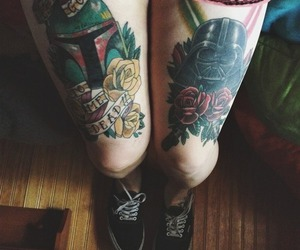 tattoo, vans, and star wars image
