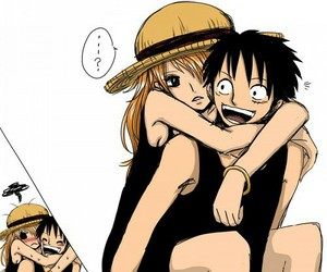 anime, couple, and one piece image