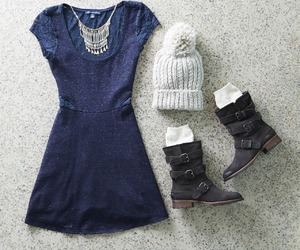 blue dress, clothes, and outfit image