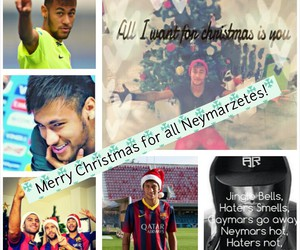 merry christmas, neymar, and neymarzetes image