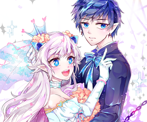 anime, couple, and luciel image
