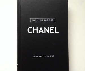 chanel, book, and black image