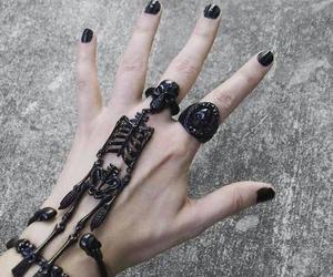 black, skull, and nails image