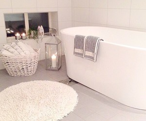 bathroom, interior, and candle image