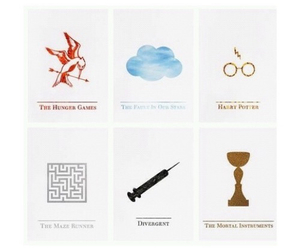 harry potter, divergent, and the mortal instruments image