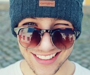 boy, smile, and sunglasses image