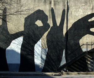 hands, love, and shadows image