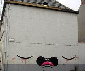 graffiti and house image