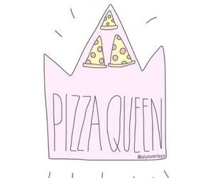 crown, pizza, and tumblr image