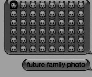 cat, family, and future image