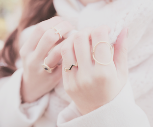 beauty, pastel, and rings image