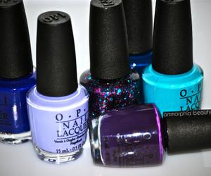 nails, blue, and opi image