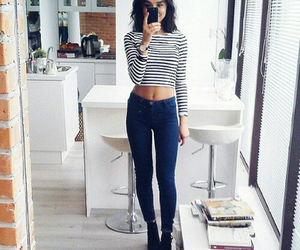 crop, jumper, and girl image